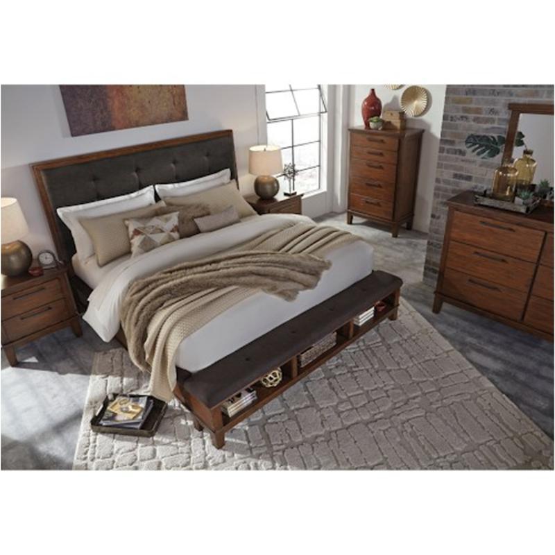 B594 58 Ck Ashley Furniture Ralene Medium Brown Bed
