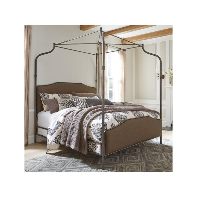 B616 97 Ashley Furniture Moriann Bedroom King Poster Rails Canopy