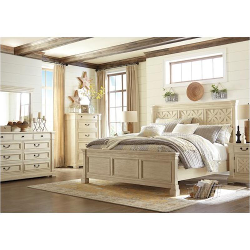Ashley Furniture Beds: B647-58 Ashley Furniture Bolanburg Bedroom King Panel Bed