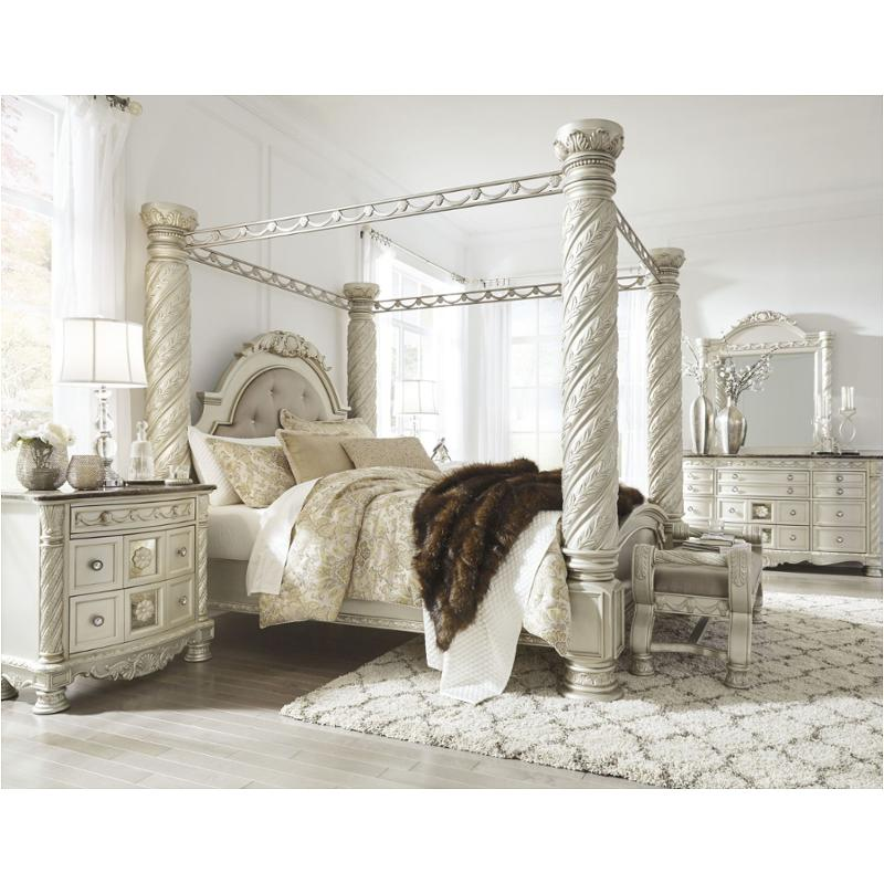 B750 50 Ashley Furniture Cassimore Bedroom King Canopy Bed