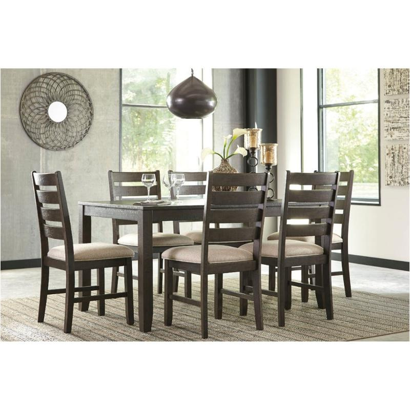 D397-425 Ashley Furniture Rokane Dining Room 7pc Dining Table Set