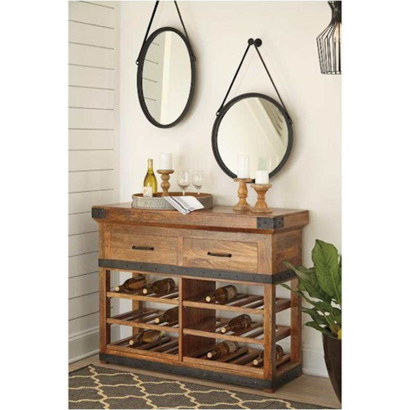 D548 064 Ashley Furniture Glosco Brown Dining Room Accent Cabinet