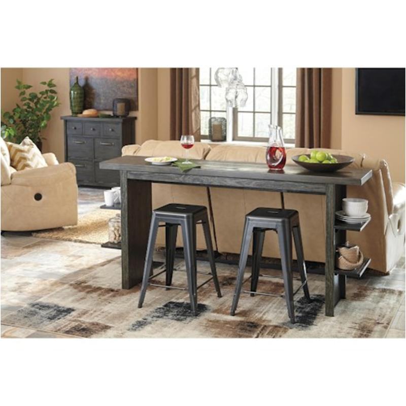 D639 33 Ashley Furniture Lamoille   Dark Gray Dining Room Dining Table