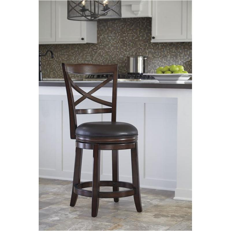 D697 424 Ashley Furniture Porter   Rustic Brown Dining Room Stool