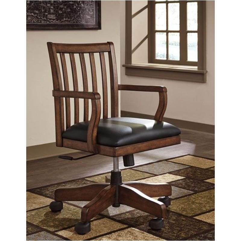 H478 01a Ashley Furniture Woodboro Brown Home Office Chair