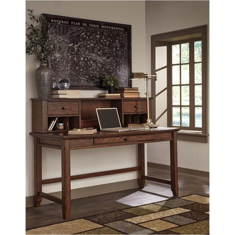 H478 44 Ashley Furniture Woodboro Brown Home Office Desk