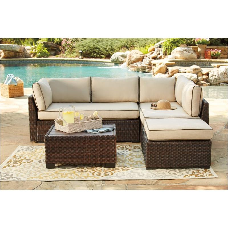 Awesome P300 070 Ashley Furniture Loughran Loveseat Sectional Ottoman Table Uwap Interior Chair Design Uwaporg