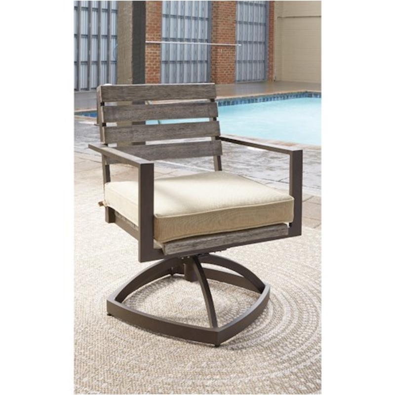 P655-602a Ashley Furniture Peachstone Swivel Chair With