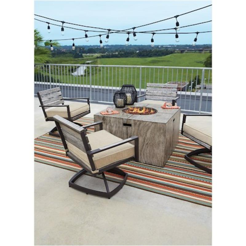 P655 772 Ashley Furniture Peachstone Patio And Garden Fireplace