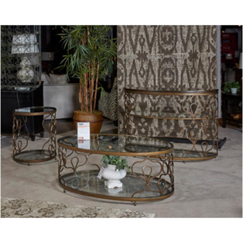 T Ashley Furniture Fraloni Living Room Oval Cocktail Table - Ashley furniture oval coffee table