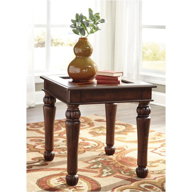 T Ashley Furniture Millburg Rectangular End Table - Ashley coffee table with stools