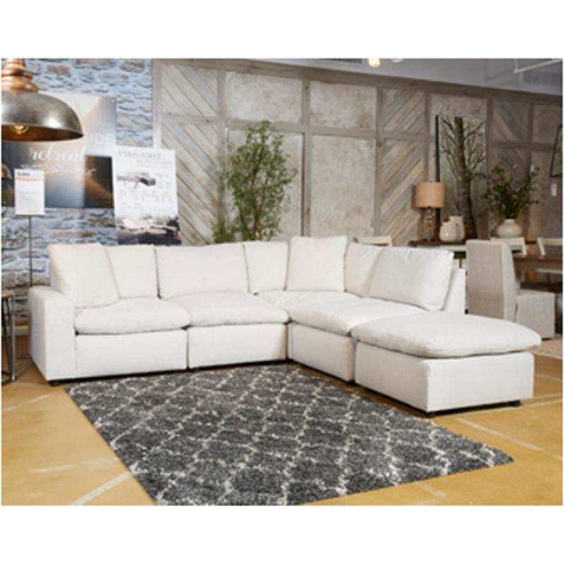 3110277 Ashley Furniture Savesto   Ivory Living Room Sectional