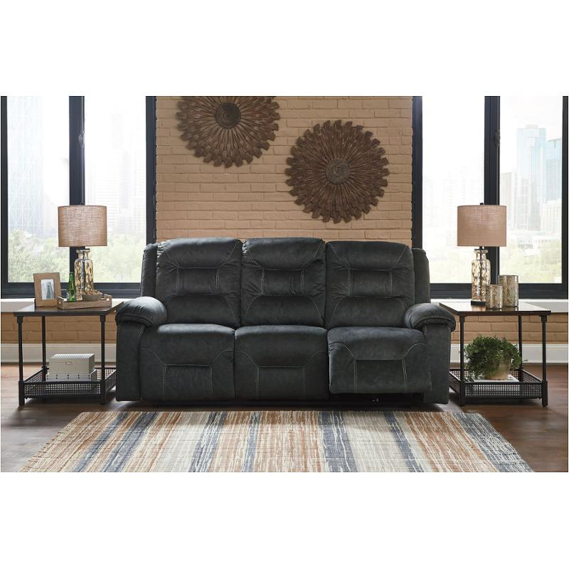 Fabulous 8150215 Ashley Furniture Waldheim Gray Power Recliner Sofa With Adjusted Headrest Home Interior And Landscaping Mentranervesignezvosmurscom