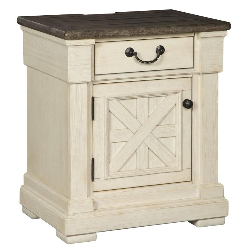B647 191 Ashley Furniture Bolanburg Bedroom One Drawer Nightstand