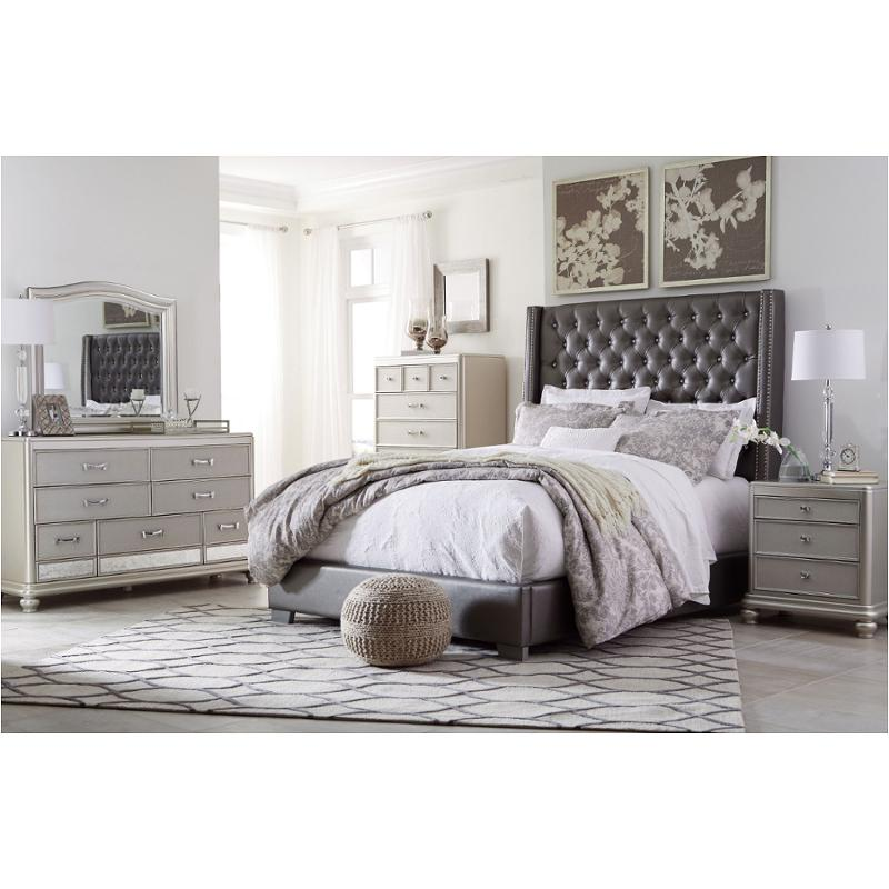 B650 87 Ashley Furniture Full Upholstered Panel Bed