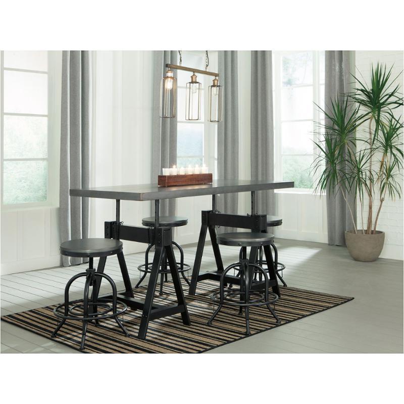 D400 213 Ashley Furniture Rectangular Adjustable Height Table