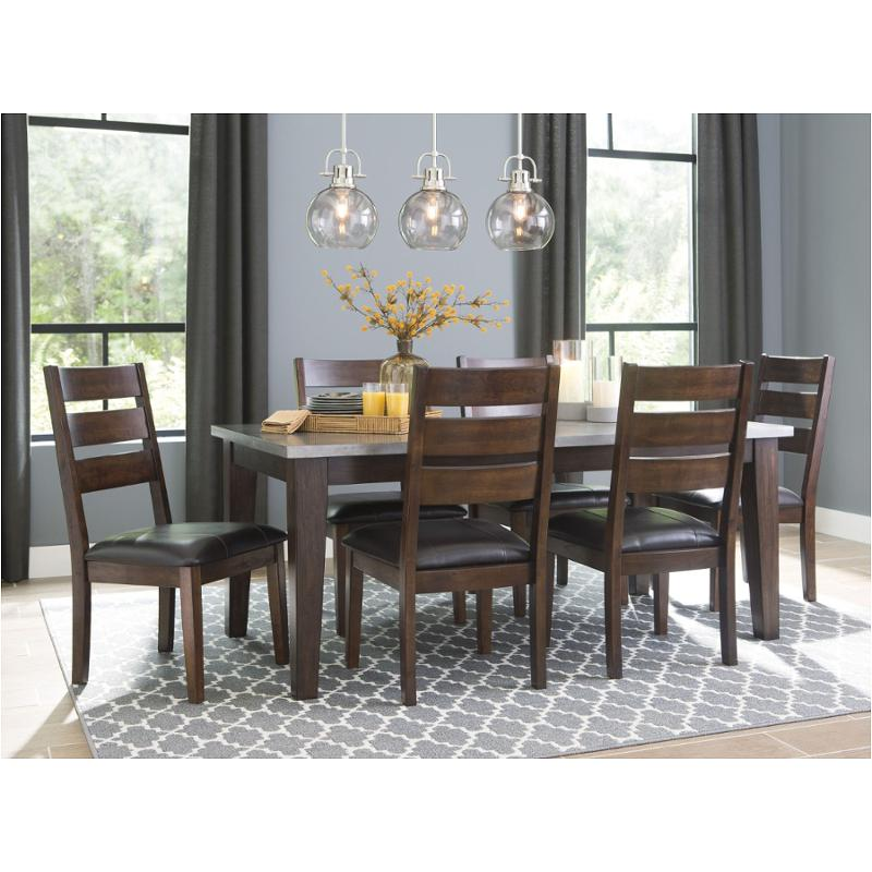 Dark Dining Room: D442-26 Ashley Furniture Rectangular Dining Table