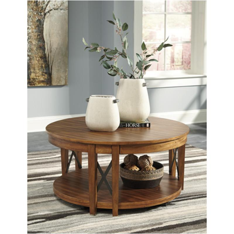 T433 8 Ashley Furniture Emilander Living Room Cocktail Table