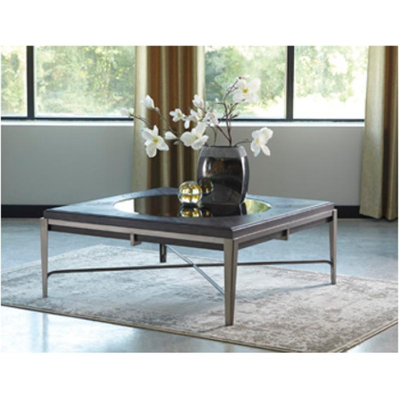 T710 8 Ashley Furniture Flandyn Living Room Square Cocktail Table