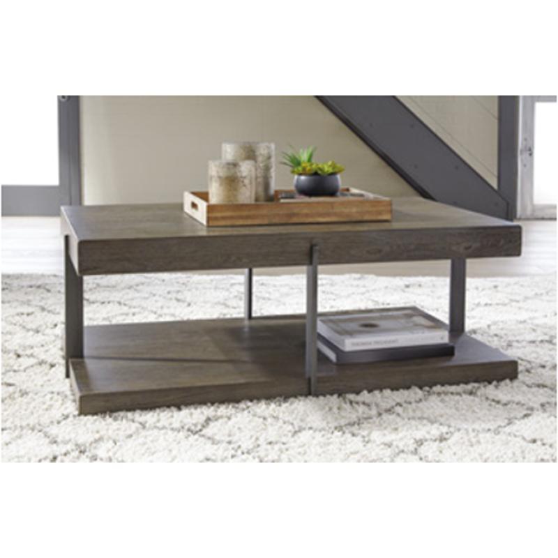 T807 1 Ashley Furniture Gantoni Living Room Cocktail Table