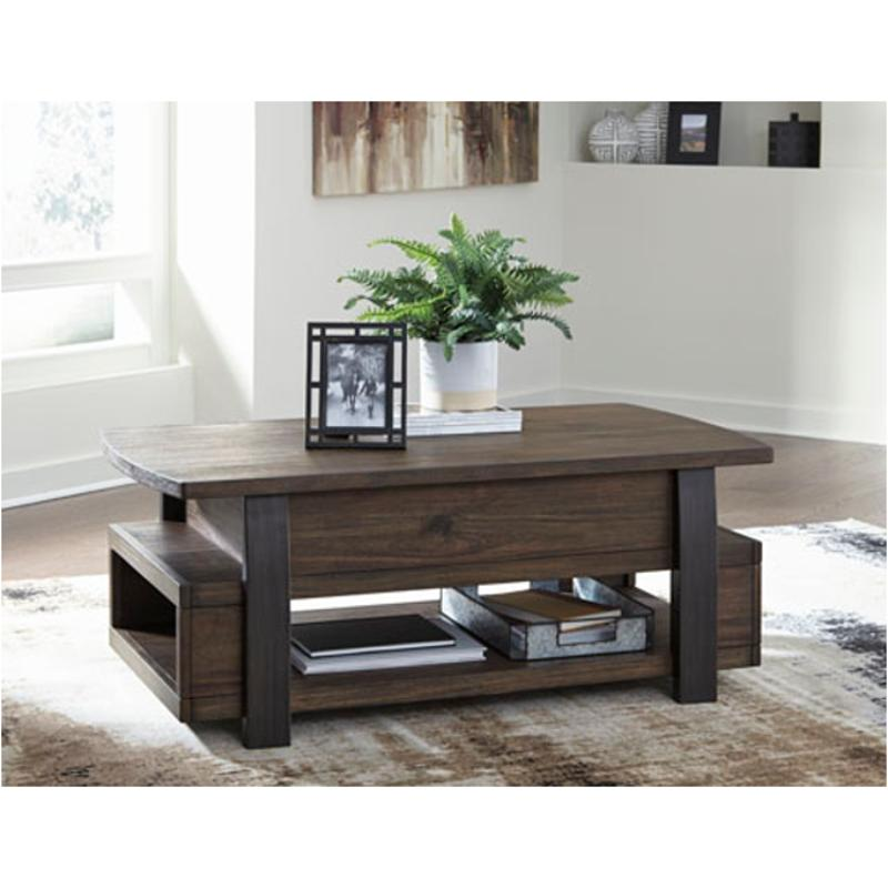 T758-9 Ashley Furniture Vailbry Lift Top Cocktail Table