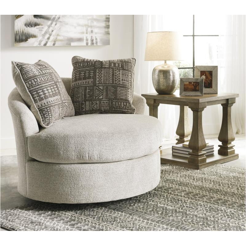 9510444 Ashley Furniture Soletren - Stone Swivel Accent Chair