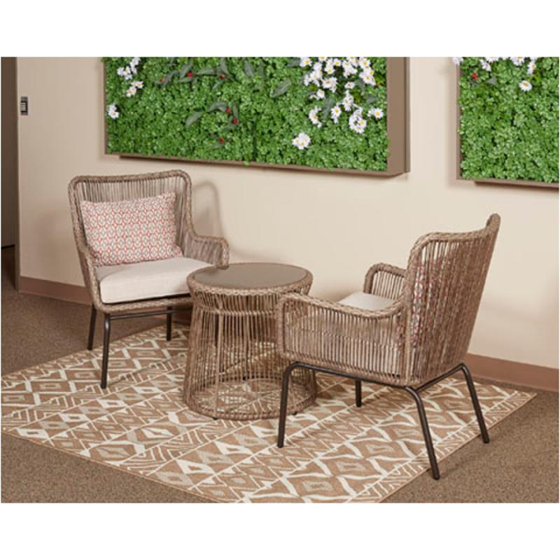 P308 050 Ashley Furniture Chair With Cushion Tables Set