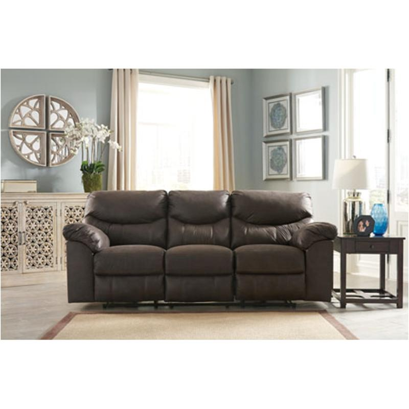 3380388 Ashley Furniture Boxberg Teak Reclining Sofa
