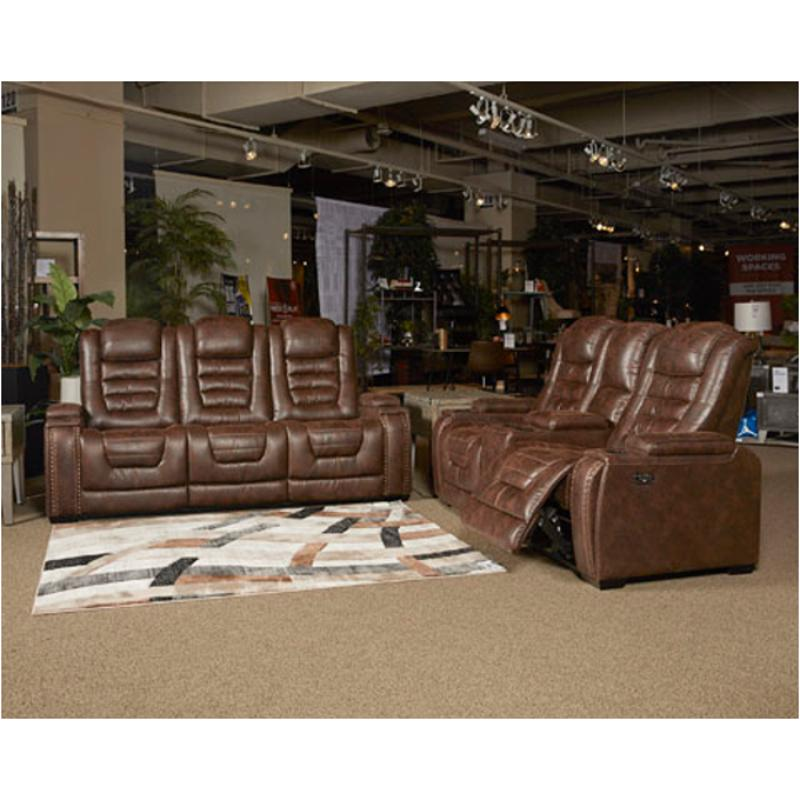 3850115 Ashley Furniture Game Zone Power Recliner Sofa With Adjustable  Headrest