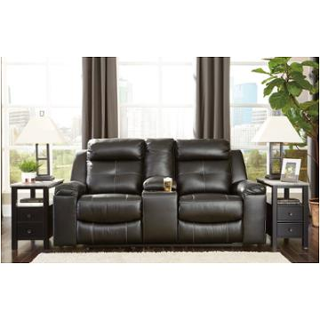 8210588 Ashley Furniture Kempten - Black Reclining Sofa