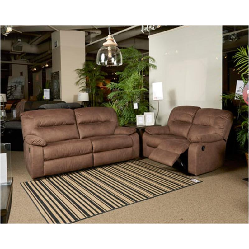9380281 Ashley Furniture Bolzano Coffee 2 Seat Reclining Sofa
