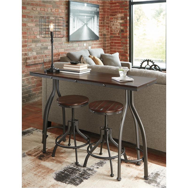 D284 113 Ashley Furniture Odium Rectangular Drm Counter Table Set
