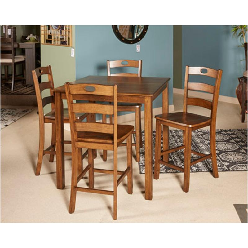 D419 223 Ashley Furniture Hazel Square Counter Table With 4 Stools