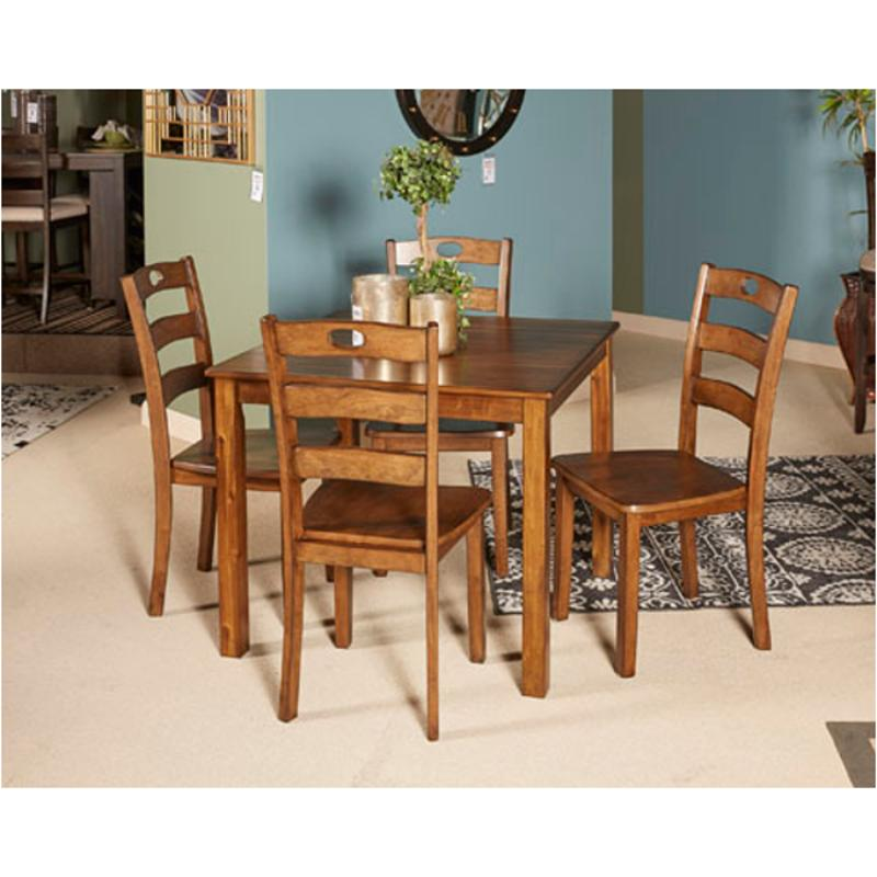 D419-225 Ashley Furniture Hazelteen Square Drm Table