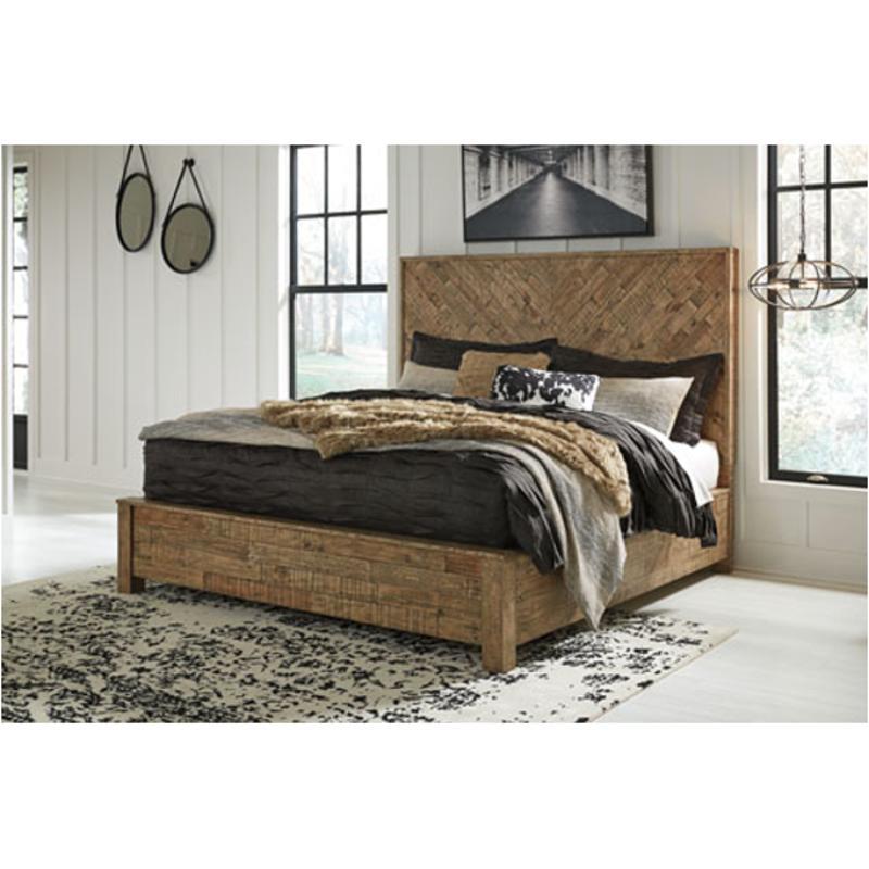 B754 58 Ashley Furniture King California King Panel Bed
