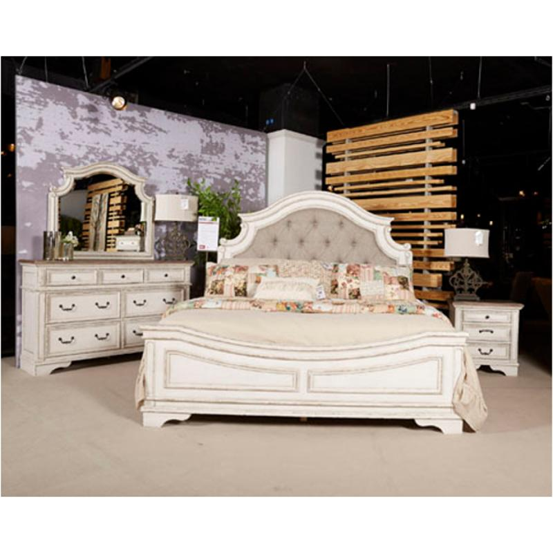 B743 57 Ashley Furniture Realyn Queen Upholstered Panel Bed