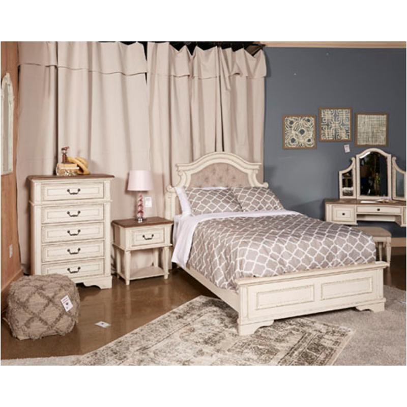 B743 87 Ashley Furniture Realyn Bedroom Bed