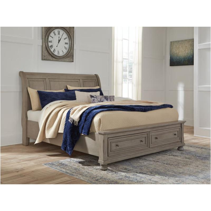 B657 77 Ashley Furniture Queen Upholstered Bed: B733-77 Ashley Furniture Lettner Bedroom Queen Sleigh Bed