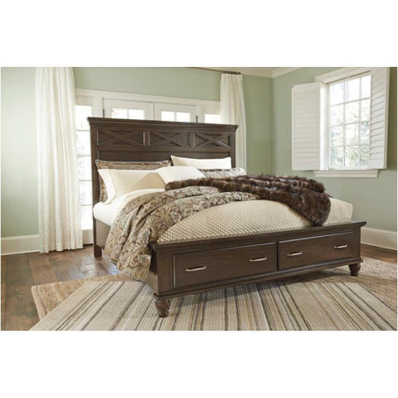 893037f40546 B727-57 Ashley Furniture Brossling Queen Panel Bed
