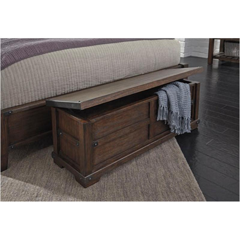 B670 09 ashley furniture zenfield medium brown bedroom bench - Ashley furniture bedroom benches ...