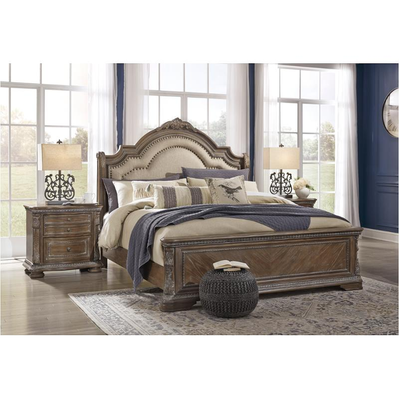 B803-57 Ashley Furniture Ashley Charmond Queen Upholstered Sleigh Bed