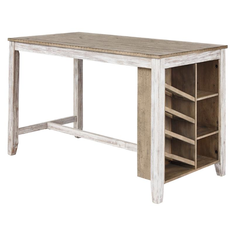 D394-32 Ashley Furniture Skempton Rectangular Counter Table With Storage