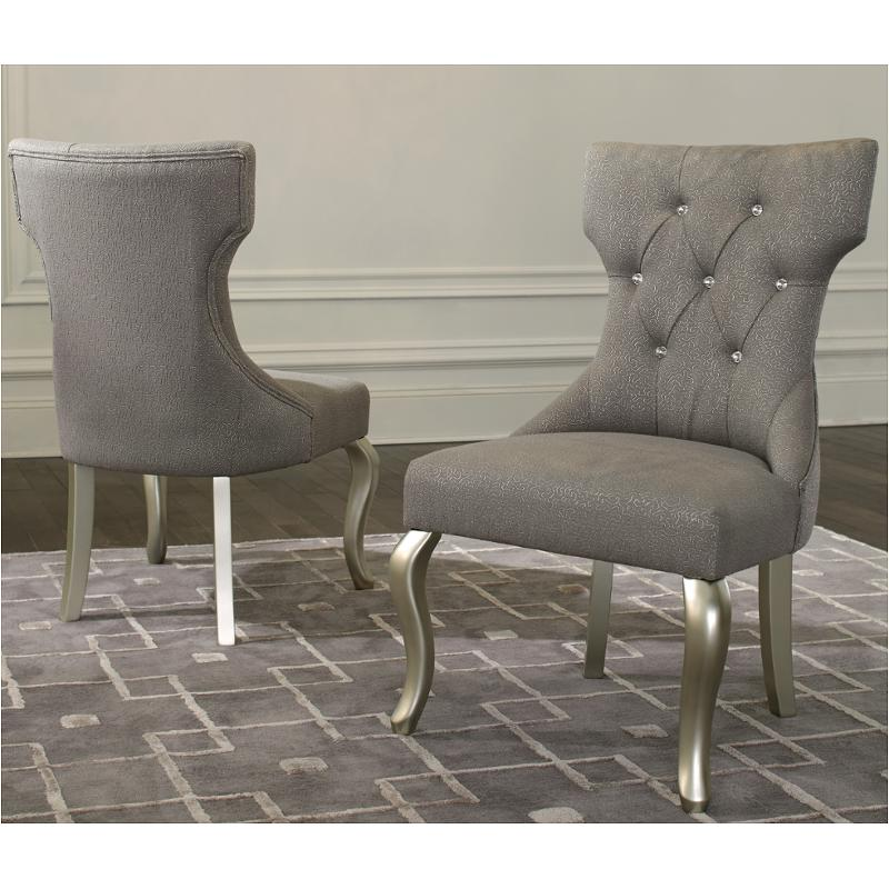 D650-03 Ashley Furniture Coralayne - Silver Upholstered Side Chair