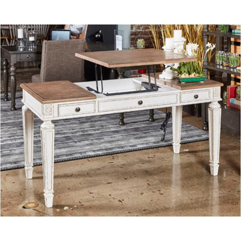 H743 134 Ashley Furniture Realyn Home Office Lift Top Desk
