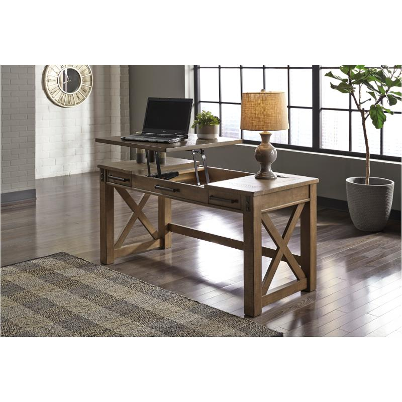 H837 54 Ashley Furniture Aldwin Home Office Lift Top Desk