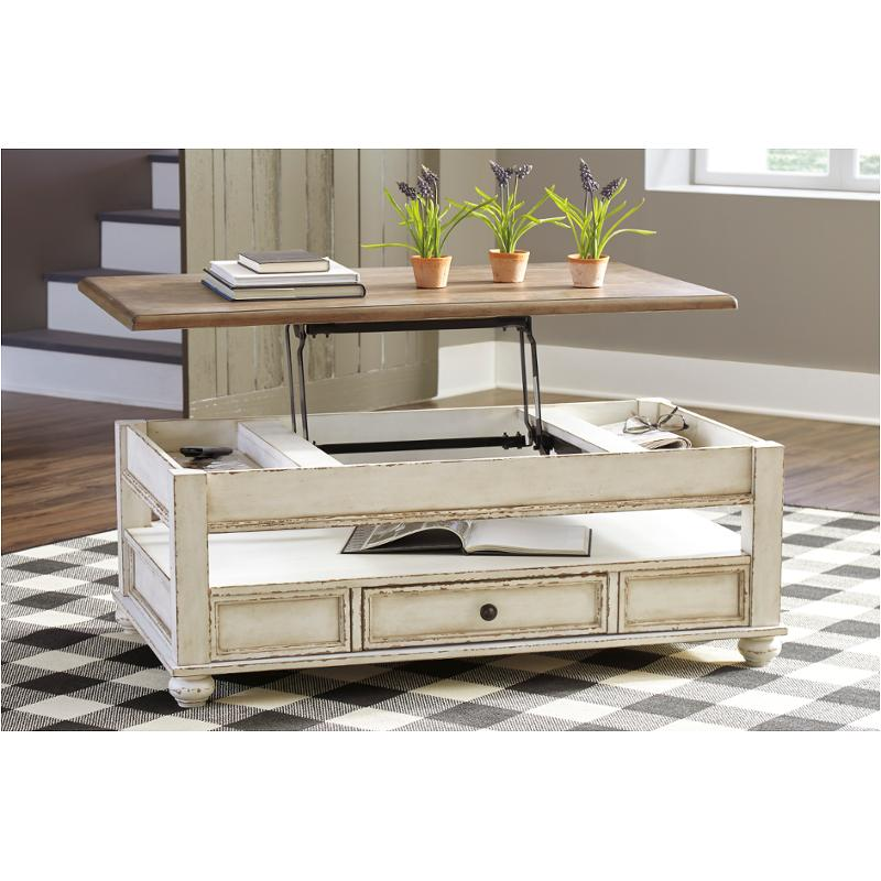 T523 9 Ashley Furniture Realyn Lift Top Tail Table