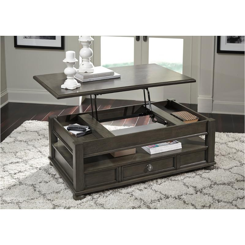 T534 9 Ashley Furniture Devenstead Lift Top Tail Table