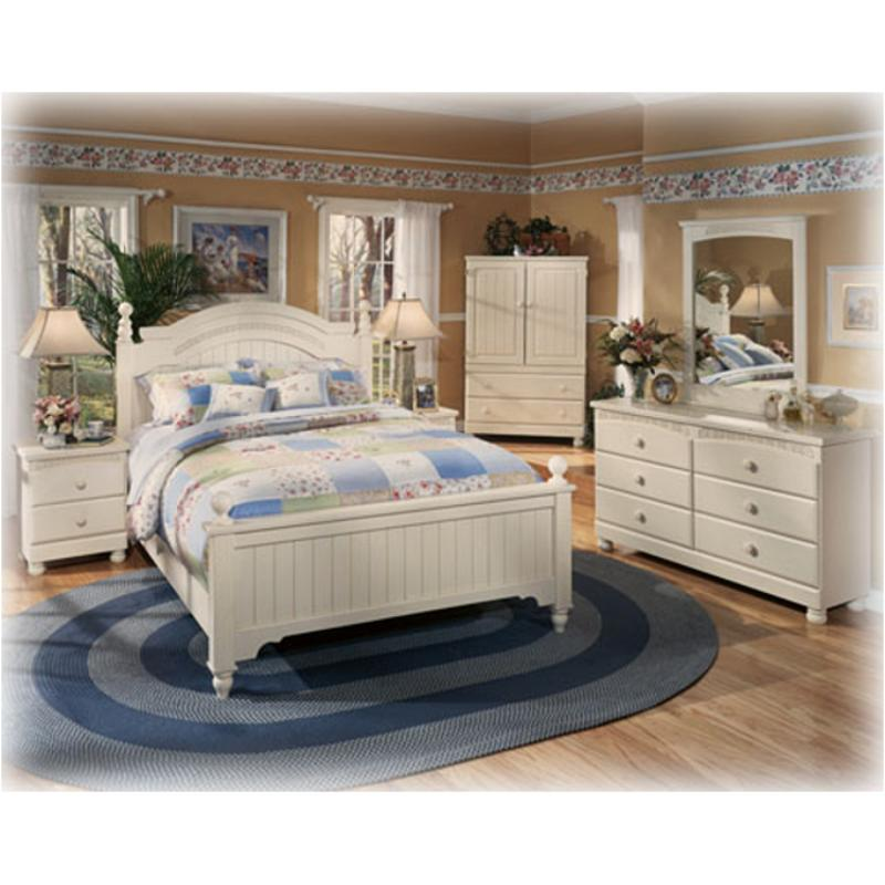 B213-57 Ashley Furniture Cottage Retreat Queen/ Full Poster Headboard