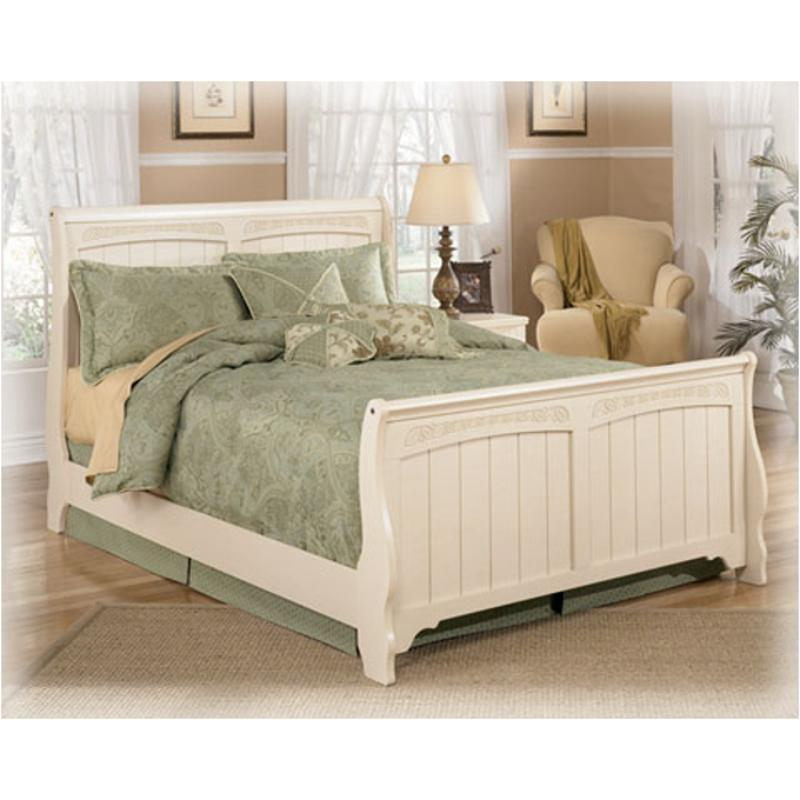 B213 87 ashley furniture cottage retreat bedroom full sleigh bed Cottage retreat collection bedroom furniture
