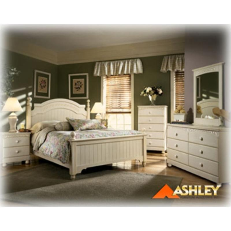 B213-98 Ashley Furniture Cottage Retreat Queen Poster Rails Cream